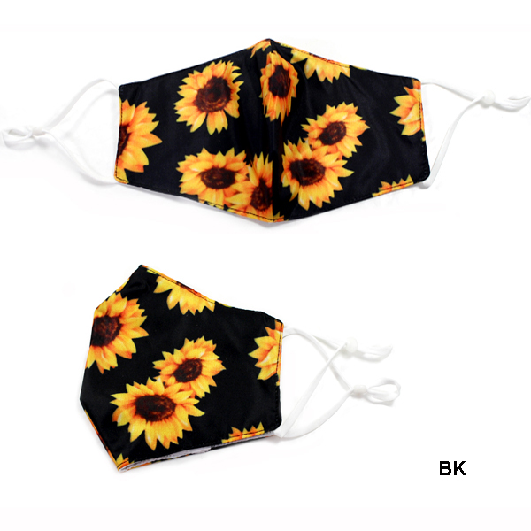 DZ-FASHION SUN FLOWER PRINT FILTER POCK MASK(MK-DZ0269-FAMS1106)