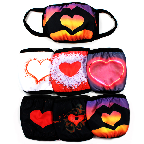 DZ-FASHION HEART PRINT MASK(MK-DZ0278-DMK224)