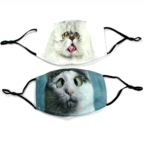 DZ-KIDS CAT PRINT FILTER POCKET MASK(MK-KID0045-QE2298)