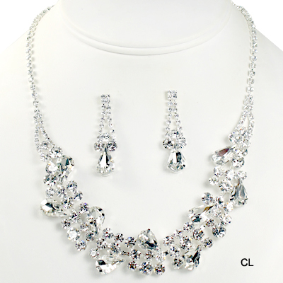 "FASHION RHINESTONE NK SET14.5""(NR0009-S15410)"