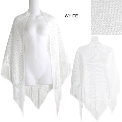 100%COTTON SOFT NET SHAWL NET SHAWL TASSEL(SHA0002-LOF482)