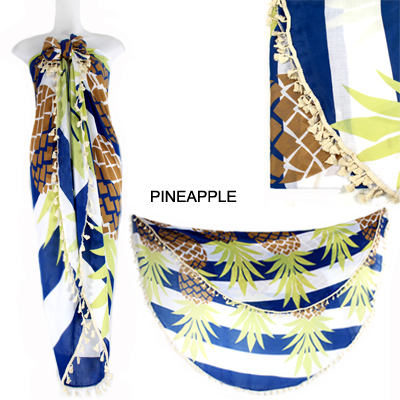 "59""PINEAPPLE BEACH COVER UP(SHA0009-LOF499)"