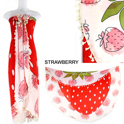 "59""STRAWBERRY BEACH COVER UP(SHA0010-LOF500)"