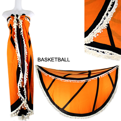"59""ROUND BASKETBALL BEACH COVER UP(SHA0013-LOF503)"
