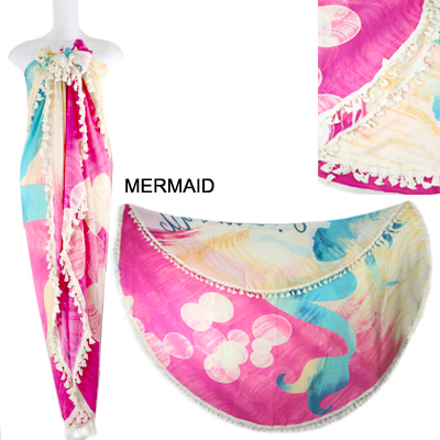 "59""ROUND MERMAID BEACH COVER UP(SHA0016-LOF506)"