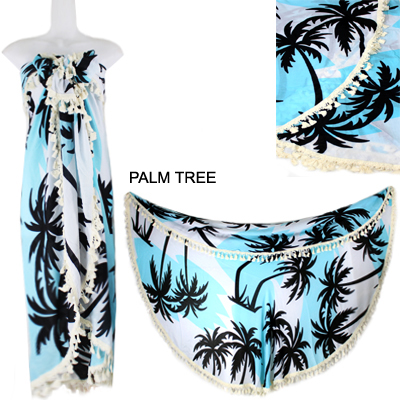 "59""ROUND PALM TREE BEACH COVER UP(SHA0017-LOF507)"