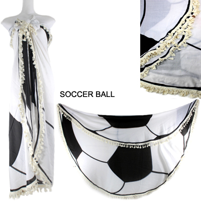 "59""ROUND SOCCER BALL BEACH COVER UP(SHA0018-LOF508)"